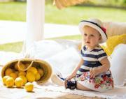 Haine bebelusi 3-24 luni in culorile estivale: bleumarin , rosu, alb