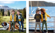 Colectia de haine pentru copii 2-9 ani cu accent pe nuante de galben, de la aprins pana la galben-castaniu