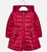 Geaca lunga rosie fete 4416-36