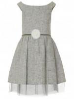 Rochie eleganta copii gri-albastradin in 21612123