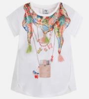 Tricou alb imprimat copii 3065-66
