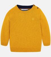 Pulover tricotat galben copii 351-54
