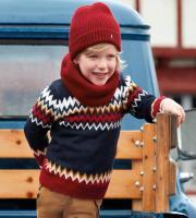 Pulover motive iarna copii 4313-36
