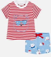 Set tricou si slipi bebe baiat Mayoral 1618-49