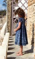 Rochie albastra dantela fete 0M569