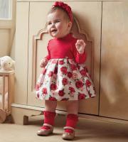 Rochie rosie eleganta fetite 2917-60