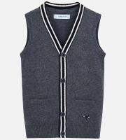 Vesta tricotata gri copii nasturi 4320-72
