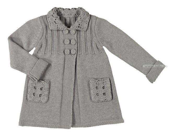 Вязание для девочек 1-2 года пальто спицами 53
